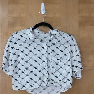 Pull&Bear Moroccan Crop Button-up Size Small
